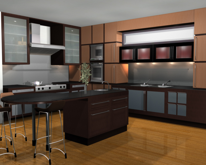 Kitchen Set Open 3d Gallery